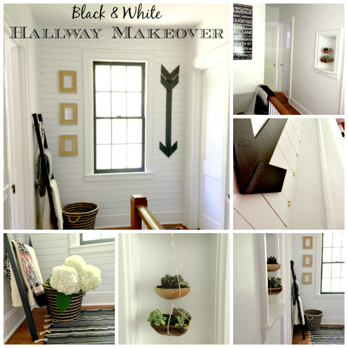 Hallway Makeover collage Hallway Makeover    Final Reveal!