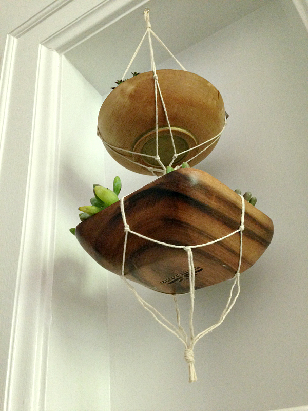 Macrame Hanging Planter Hallway Makeover    Final Reveal!