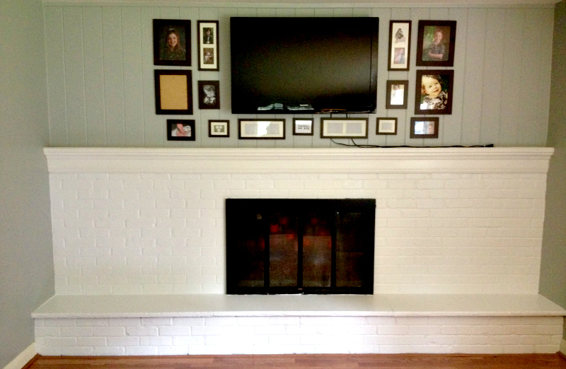 Painted Fireplace After 1