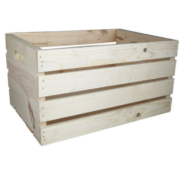 The great crate challenge campaign style wood crate for Where can i buy wooden milk crates