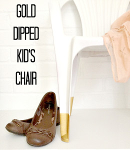Gold Dipped Kid's Chair