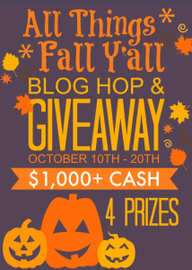 All Things Fall Yall Blog Hop Giveaway 4 prizes 214x300 Link It or Lump It #59 (with Features!!)