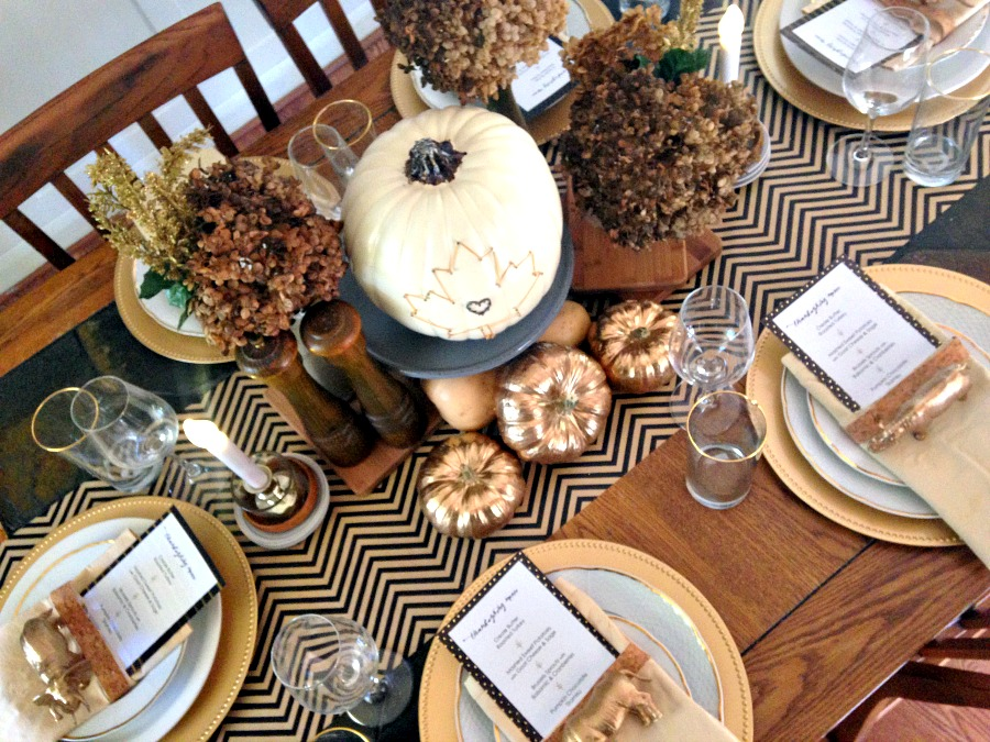 White Black Gold Thanksgiving Table Gold Thanksgiving Tablescape