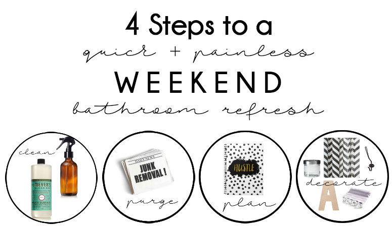 Bathroom Refresh: 4 Steps to a WEEKEND Makeover!