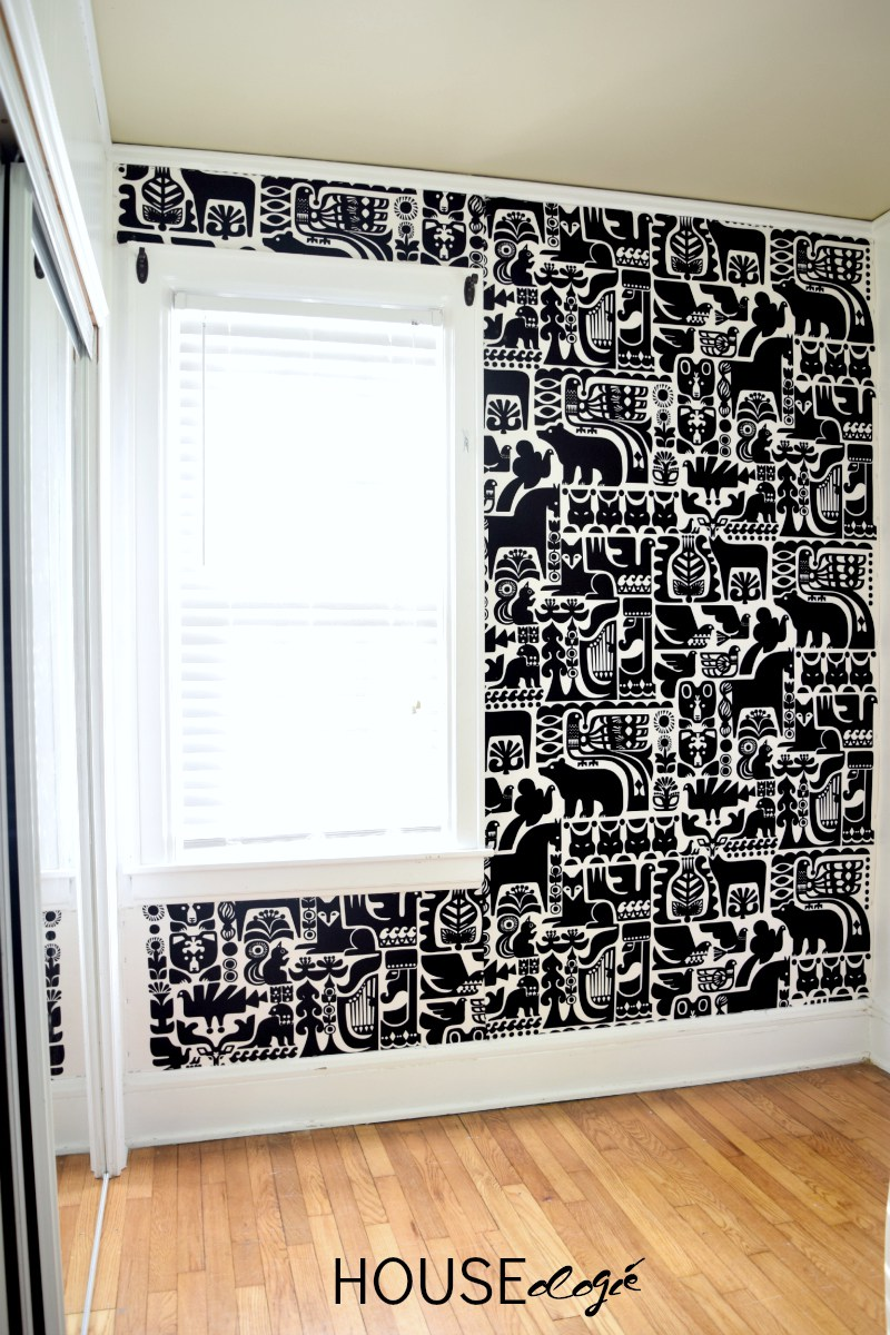 Staple A Gorgeous Fabric To The Wall For Quick And Completely Removable Treatment