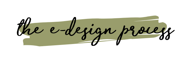 the e-design process is an easy and affordable way to hire an interior designer. You get a designer plan at a budget price!